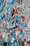 Strutturi il mosaico dalle mattonelle rotte Costantinopoli, Turchia fotografia stock libera da diritti