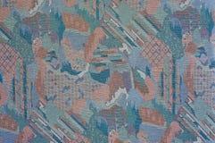 Strutturi il tessuto da arredamento modellato estratto del tono porpora scuro Fotografia Stock
