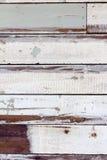 Strutturi il vecchio pezzo della pittura di legno per murare Fotografia Stock Libera da Diritti