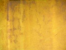 Strutturi l'oro in un metallo Fotografie Stock Libere da Diritti