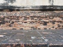 Strutturi la prospettiva della stanza del mattone all'aperto, usato per fondo Fotografia Stock