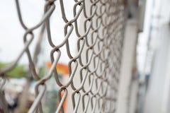 Strutturi la rete del metallo della gabbia Fotografia Stock