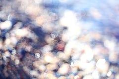 Strutturi le chiare acque trasparenti della sfuocatura del lago del mare Fotografie Stock