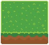 Strutturi per il vettore di arte del pixel di platformers - terra Immagine Stock