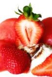Strwberry avec la crême glacée Photographie stock libre de droits
