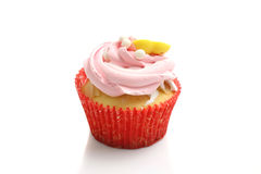 Strwberry cup cake isolated in white background Stock Photography
