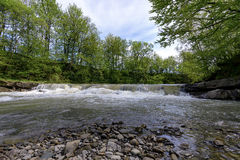 Stryj River. The Stry River in the Ivano-Frankivsk region Royalty Free Stock Images