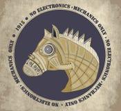 Stryka hästen Royaltyfri Bild