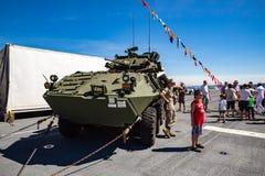 Stryker-Militärfahrzeug Stockfotos