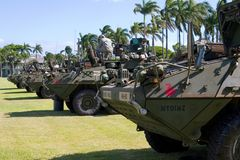 Strykers sur l'affichage Images stock