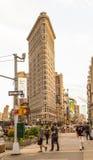 Strykjärn som bygger NYC Arkivbilder