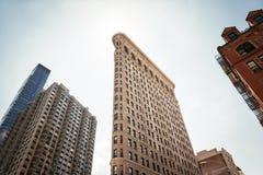 Strykjärnbyggnad på NYC Arkivfoto