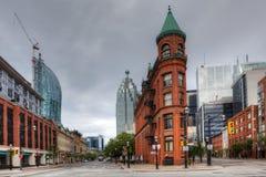 Strykjärnbyggnaden i Toronto, Kanada Royaltyfri Bild
