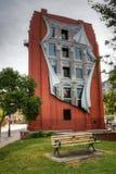 Strykjärnbyggnaden i Toronto med Trompe - l ' oeilväggmålning Fotografering för Bildbyråer