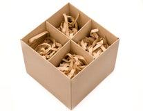 strzępiący prezenta pudełkowaty papier Zdjęcie Stock