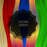 Strzępiasta round rama na naszłym kolorowym tle Modny holograficzny pakuje projekt lub okładkowy szablon royalty ilustracja