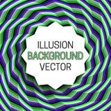 Strzępiasta round rama z cieniem na złudzenia tle chodzenie spirali wzór ilustracja wektor