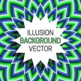 Strzępiasta round rama z cieniem na złudzenia tle chodzenie wzór ilustracji