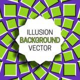 Strzępiasta round rama z cieniem na złudzenia tle poruszający kurenda wzór ilustracja wektor