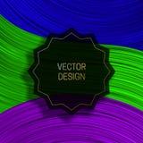 Strzępiasty round na kolorowym dynamicznym tle Modny pakuje projekt lub okładkowy szablon royalty ilustracja