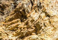 Strzępiasty skalisty zbocze w Kalifornia obrazy royalty free
