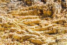 Strzępiasty skalisty zbocze w Kalifornia zdjęcia royalty free