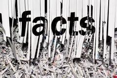 Strzępienie fact zdjęcia royalty free