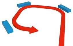 Strzałkowaty błękita blok Łapać w pułapkę ilustracja wektor