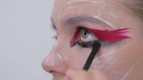 5 strzałów Fachowy makijaż tworzy twarzy makeup sztukę zbiory wideo