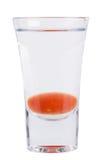strzał Alkoholiczny napój na białym tle zdjęcie stock