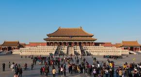 Strzał Hall Najwyższa harmonia w Niedozwolonym mieście, Pekin, Chiny Zdjęcie Stock