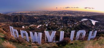 Hollywood wzgórza obrazy royalty free