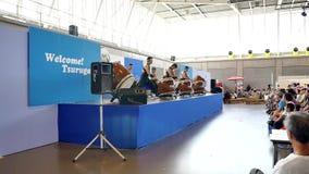 strzał Japoński bębenu występ świętuje lokalnego festiwal zbiory