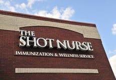 Strzał pielęgniarki znak Zdjęcie Stock
