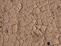 Strzał sucha, krakingowa pustynna podłoga, Zdjęcie Stock