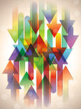 strzała abstrakcjonistyczny tło ilustracja wektor