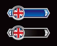 strzała czarny błękitny British flaga royalty ilustracja