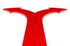 strzała kierunków czerwień dwa ilustracja wektor