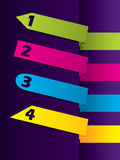 Strzała kształtujący koloru reklamowy etykietki set Zdjęcie Royalty Free