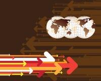 strzała mapy świat ilustracja wektor