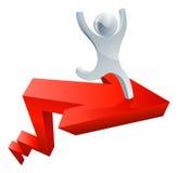 strzała monet pojęcia diagrama pieniężny złoty sukces Zdjęcie Stock