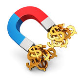 strzała monet pojęcia diagrama pieniężny złoty sukces royalty ilustracja