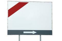 strzała prętowy billboardu pustego miejsca grey odizolowywał czerwonego biel obraz royalty free