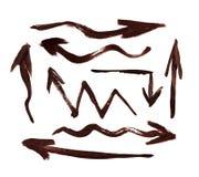 strzała ręcznie pisany ilustracyjny setu wektor Zdjęcia Royalty Free