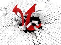 strzała target981_1_ ścianę Obrazy Royalty Free