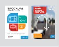 Strzała wskazuje zestrzelać broszurki ulotki projekta szablon Obrazy Royalty Free