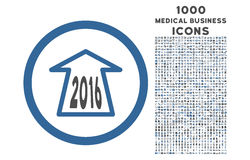 2016 strzała Zaokrąglonych ikon z 1000 premii ikonami Naprzód Obraz Stock