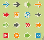 strzała zielonej ikony czerwone serie ustawiać Obraz Stock