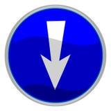 strzała znak Zdjęcie Stock