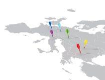 strzałek ostrości mapy płycizna royalty ilustracja